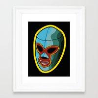 mask Framed Art Prints featuring mask by mark ashkenazi