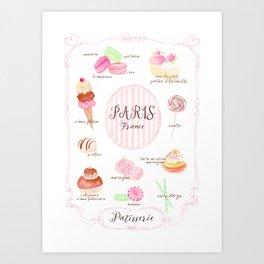 Paris Patisserie Art Print