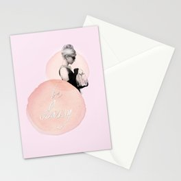 Audrey Hepburn Be Classy, Illustration by Chiara Boz Artist Stationery Cards