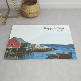 Peggy's Cove Art Nova Scotia Canada Rug