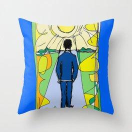 Aaron  Alter `Solar Rays'              by Kay Lipton Throw Pillow
