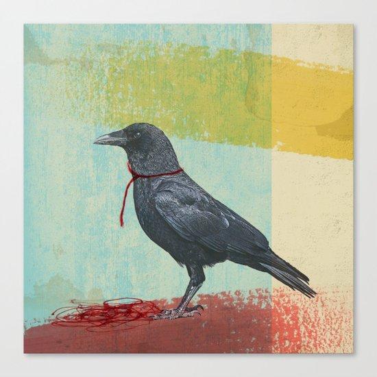 freedom raven Canvas Print