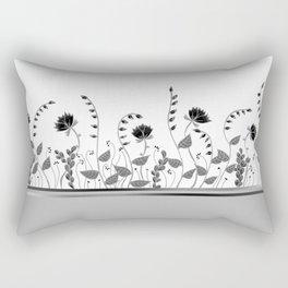 Elegant Floral Rectangular Pillow