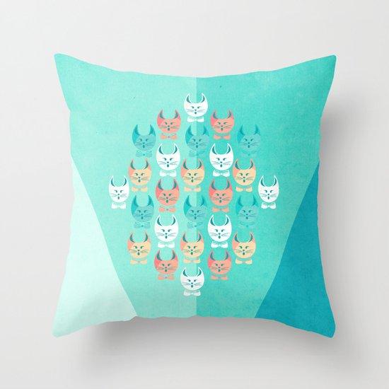 Singing Cats Throw Pillow