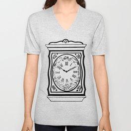 Old Clockface Unisex V-Neck