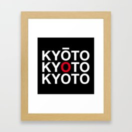 KYOTO Framed Art Print