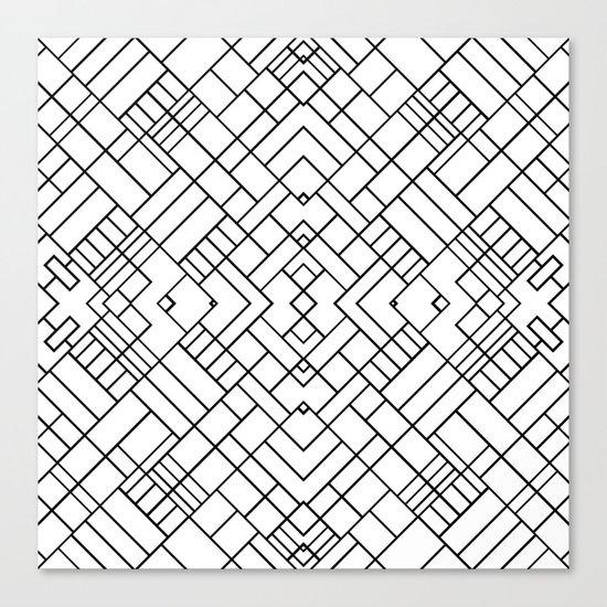 PS Grid 45 Canvas Print