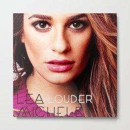 Lea Michele-Louder-Art Work Metal Print