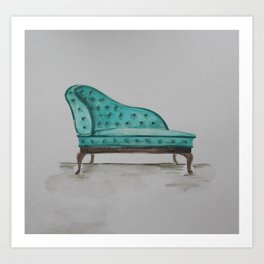 Chaise Lounge Art Print