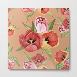 Digital Hibiscus painting flowers design for home decoration Metal Print