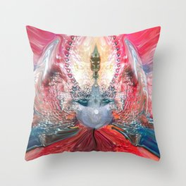 Queen Of Somewhere not Of This Earth Throw Pillow