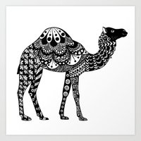 camel Art Prints featuring Camel by Sophie H.