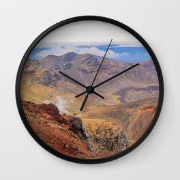 Tongariro Alpine Crossing Wall Clock