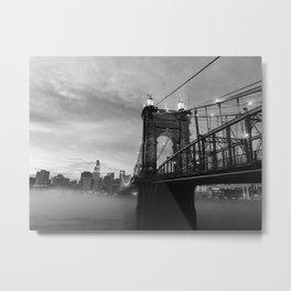 Roebling Fog Metal Print