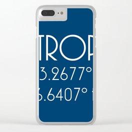 St. Tropez Latitude Longitude Clear iPhone Case