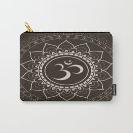 Espresso Brown Om Mandala Carry-All Pouch