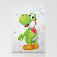 yoshi Stationery Cards featuring Yoshi by Sabina's Arts
