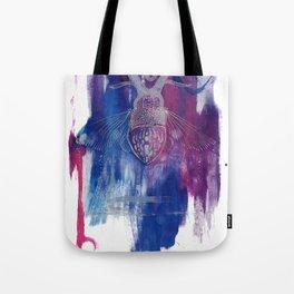 Colourful Silver Dotwork Antler Beetle Inksplash Illustration Tote Bag