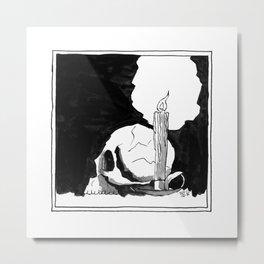 Waxy McSkull Squared XL Metal Print