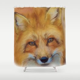 Fox in a close-up Shower Curtain