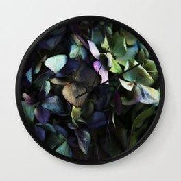 hydrangea I Wall Clock