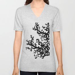 Antler Vines Unisex V-Neck