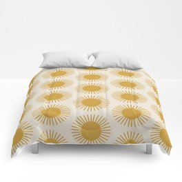 Golden Sun Pattern Comforters
