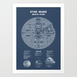 Death Star Blueprint Art Print