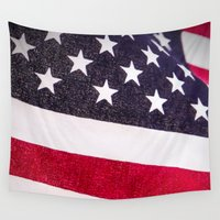 america Wall Tapestries featuring America by Mary Timman