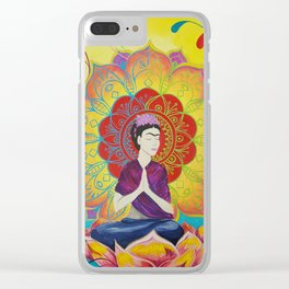 Frida Transcending Mandala and Lotus Blossom Clear iPhone Case