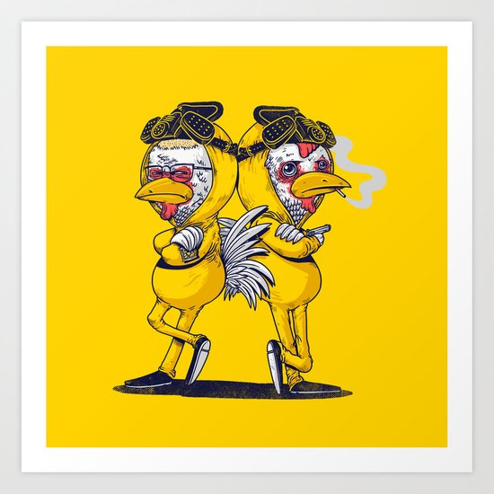 Pollos Art Print
