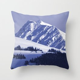 Back-Country Skiing - 8 Throw Pillow