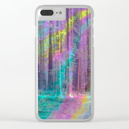 Forest from Inside a Bubble Clear iPhone Case