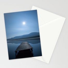 Moon over Lough Aubha Stationery Cards