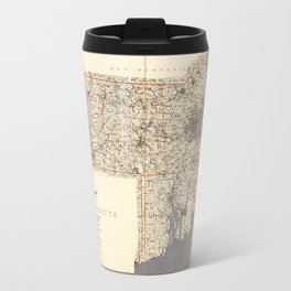 Road Map of Massachusetts (1922) Travel Mug