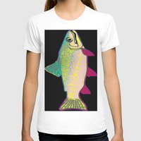 trout T-shirts featuring Neon Rainbow Trout by Florian Rodarte