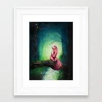 kodama Framed Art Prints featuring KODAMA by _Shara_