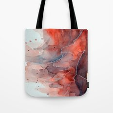 Watercolor red & blue TEXTURE Tote Bag