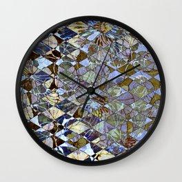 Diamond Floral Pattern Wall Clock