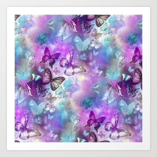 Butterflies Dreaming Art Print