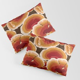 Retro Reishi Mushrooms Pillow Sham