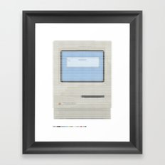 Pantone as pixel Mac Framed Art Print