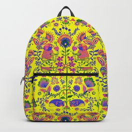 The Pug of Folk Watercolor Backpack