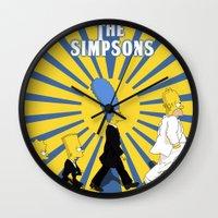 simpson Wall Clocks featuring Simpson Sun by sgrunfo