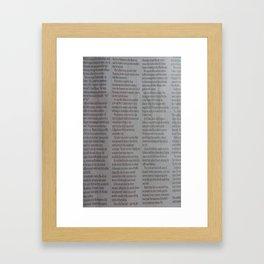 Newpaper Framed Art Print