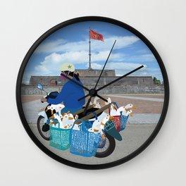 Transporting geese in Vietnam Wall Clock