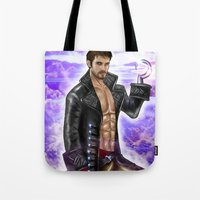 captain hook Tote Bags featuring Captain Hook by Steven H. Garcia