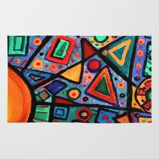 Abstract Sun Rug