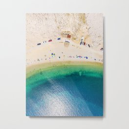 Meet you at the beach Metal Print