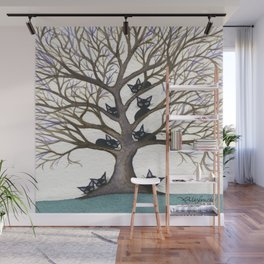 Hackensack Whimsical Cats in Tree Wall Mural